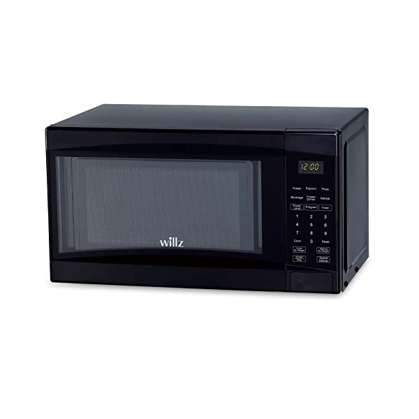 Willz WLCMD207BK-07 Countertop Microwave Oven, 0.7 Cu.Ft/700W Microwave Oven, 6 Cooking Programs LED Lighting Push… 1