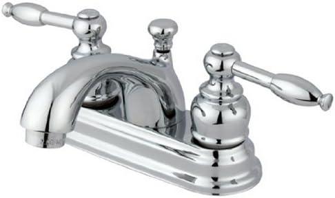 Kingston Brass KB2601KL Polished Chrome Knight 4-Inch Centerset Lavatory Faucet