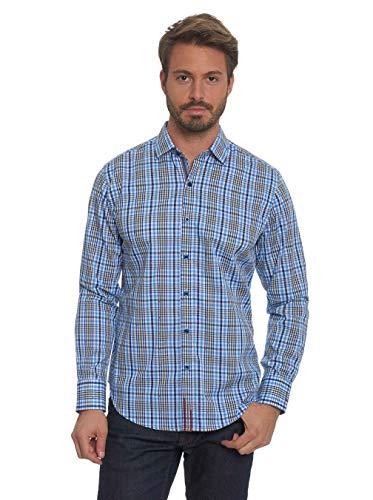 Robert Graham Men's Cape Vincent Classic Fit Sport Shirt, Blue, 3XLARGE