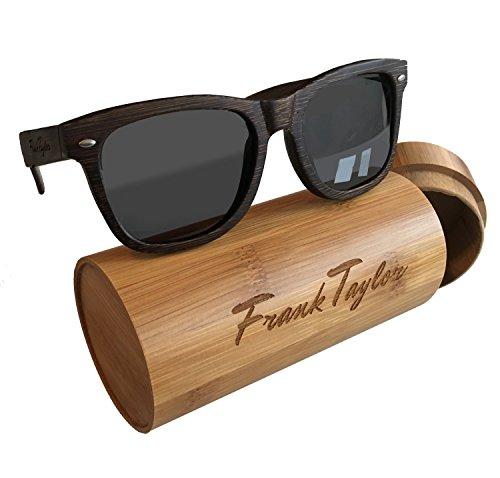Wooden Sunglasses by Frank Taylor - Dark Bamboo - Handmade - 1 Year Warranty - Polarized 100% - Frank Glasses