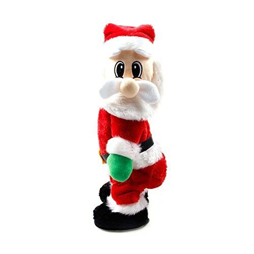 Dumonsly Twisted Wiggle Hip Twerking Christmas Santa Singing Electric Toy