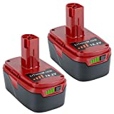 Lasica 2Pack Upgraded 5000mAh C3 19.2 Volt Lithium Battery Replacement for Craftsman XCP 19.2-Volt C3 Battery 130211004 130279005 11045 315.115410 315.11485 1323903