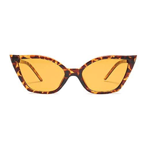 de de Moda Moda resina gafas marco Aiweijia Vintage Patrón gafas gato retro ojo de sol pequeñas Leopardo OW81Yw