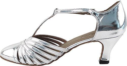 Kvinders Balsal Dansesko Tango Bryllup Salsa Sko 6829beb Komfortable-meget Fint 2.5 [bundt Af 5] Sølv Læder 3ZncNzIpg
