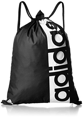 - Adidas Linear Performance Gymbag Shoebag (One Size, Black/Black/White)