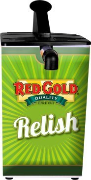 1.5 Gallon Red Gold Relish Dispenser