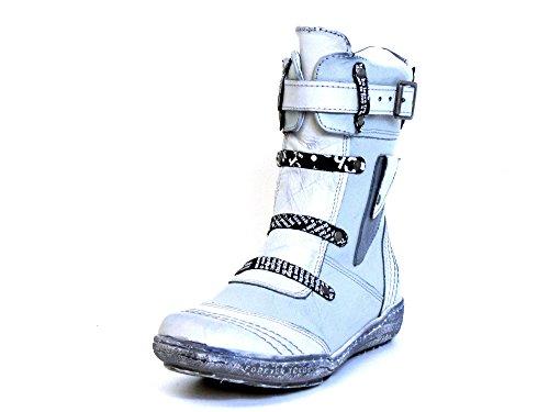 Women Boots beige, (weiß-kombi) 1208 weiß-kombi