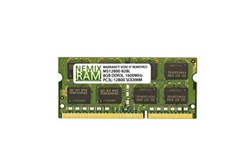 8GB (1x8GB) DDR3-1600MHz PC3-12800 2Rx8 SODIMM Laptop Memory by NEMIXRAM