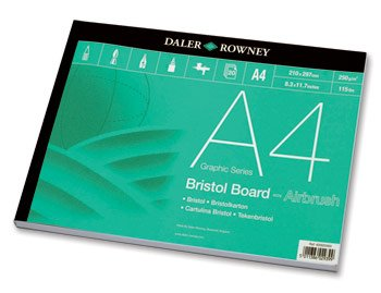 - Daler-Rowney : A4 DR Bristol Board Pad 250gsm - 20 Sheets