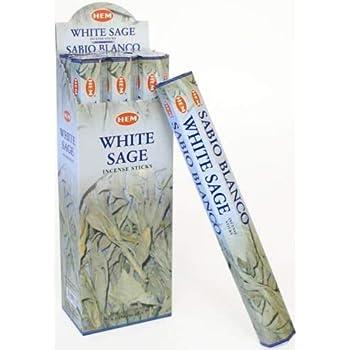 Hem White Sage 100 Incense Sticks (5packs of 20 sticks)