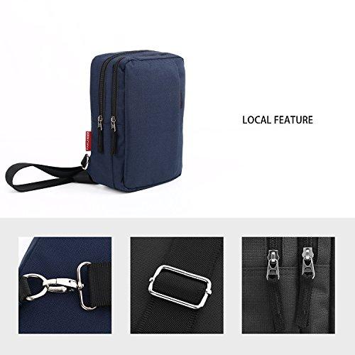 Classic Lightweight Casual Messenger Bag Canvas Satchel Vintage Shoulder Crossbody Bag Briefcase for Men and Women (Navy Blue) by EBEYUKI (Image #4)