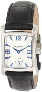 Stuhrling Original Women's 145L.12152 Classic Gatsby Swiss Quartz Stainless Steel Black Leather StrapWatch