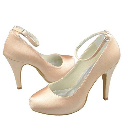 De 10cm Femmes Talon De Mariage Moulantes Chaussures Talon Partie Mariée Y156 Champagne Soir Satin Minitoo Stiletto De Haut nwZTxznq0