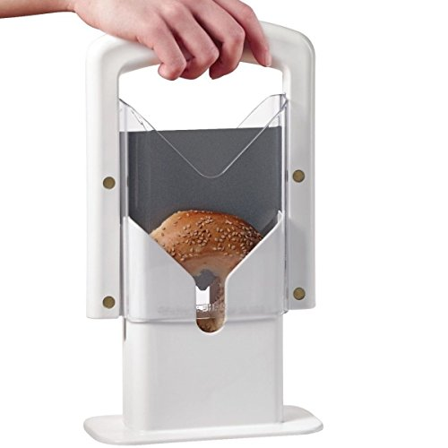 Bagel Guillotine Slicer Stainless Steel Biter Kitchen Cutter Knife Home Bread