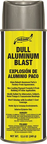 SM Arnold (66-108) Lacquer Spray Paint, Dull Aluminum Blast Acrylic Lacquer - 12 oz.
