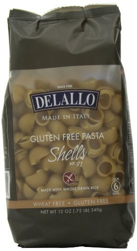 Brown Rice Shells 12 Ounces (Case of 12) by DeLallo