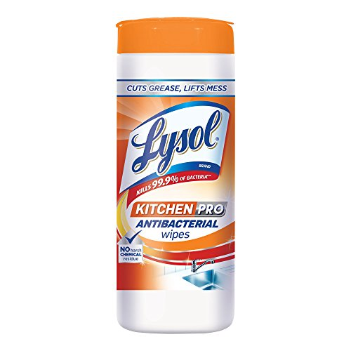 Lysol Kitchen Pro Antibacterial Disinfecting Wipes, 30ct, No Harsh Chemicals