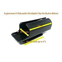 LegionArms® Polyamide Clip-On Kydex Flashlight Holster for Fenix PD35, Olight M1x S30R, PowerTac E5 E9, ThruNite TN12, Nitecore P12, etc by LegionArms Poly-E