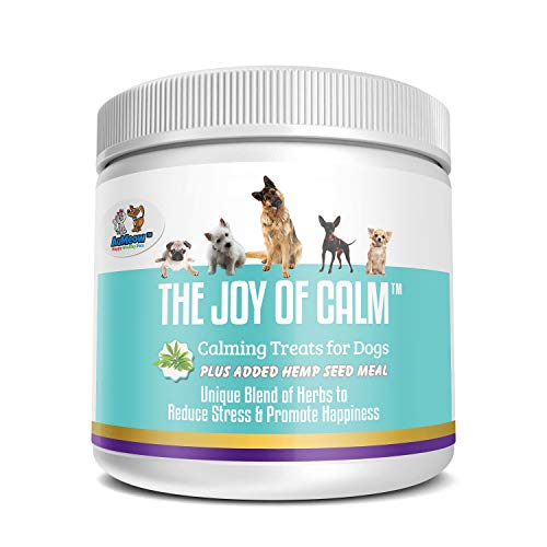 Calming Treats for Dogs - Dog Anxiety Relief with Magnesium, Thiamine, Hemp Seed, Chamomile and Passionflower - Natural Dog Calm