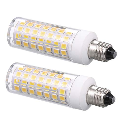 - E11 led Light Bulb 100W 150W Halogen Bulbs Equivalent 1000lm, t4 JD e11 Mini Candelabra Base 110V 120V 130V Input 100W Halogen Replacement, Pack of 2 (Warm White 3000K)