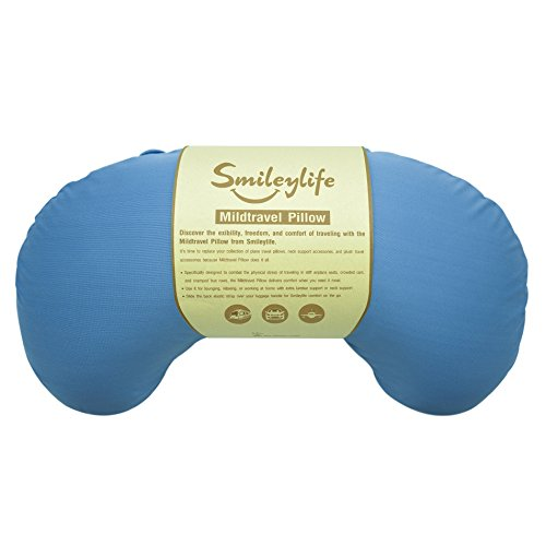Neck Pillow - Best Accessories for Neck and Lumbar Support from Smileylife. Comfortable, Easy to Carry, Luggage Attaching, Hypoallergenic & Washable Cover. Let Travel Pillow Comfort You! by Smileylife