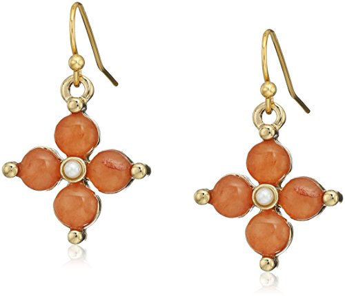 1928 jewelry 14k gold tone semi precious gemstone carnelian drop earrings Carnelian Gemstone Ring