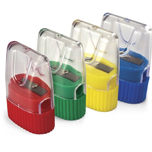 Pencil Officemate International - Officemate OIC Achieva Cone Shape Sharpener, Box of 8, Assorted Colors (30231)