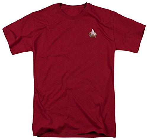 Star Trek Next Generation Command Emblem Uniform Costume Sci Fi TV Show T-Shirt Tee XL -