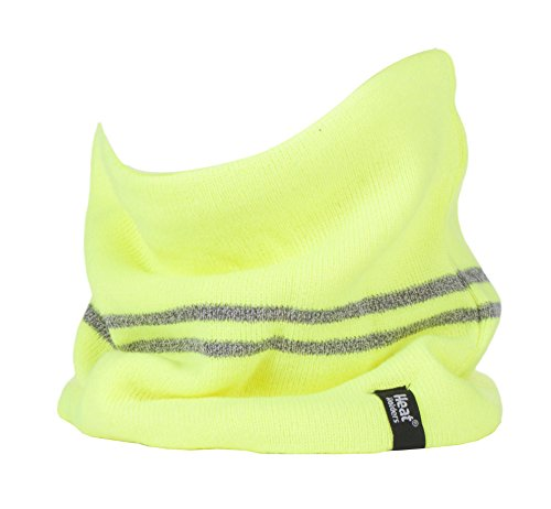 (Heat Holders - Mens Hi Vis Winter Warm Insulated Thermal Multifunctional Neck Warmer Reversible (One Size, Yellow) )