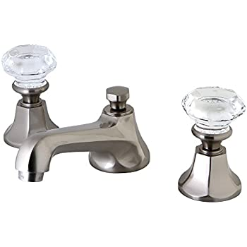 Kingston brass ks4468wcl celebrity 8 inch widespread - 8 inch brushed nickel bathroom faucet ...