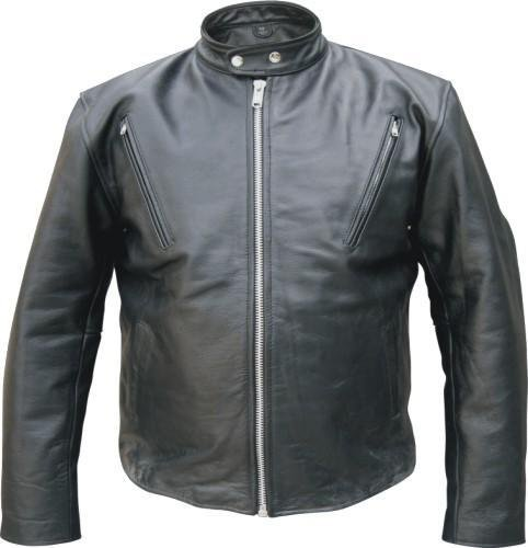 Men's COWHIDE Leather SCOOTER Touring JACKET European collar Vented ZIPOUT Liner YKK ZIPPERS 40-56