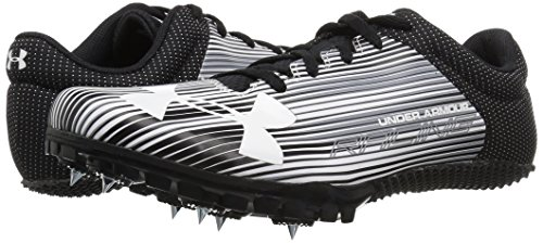 Under Armour Men's Kick Sprint Spike Running Shoe White (100)/Black 12 by Under Armour (Image #6)