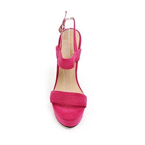 MJS00385 1To9 Inconnu EU Rouge 5 Sandales 37 Pêche Femme Pour q7r7zd