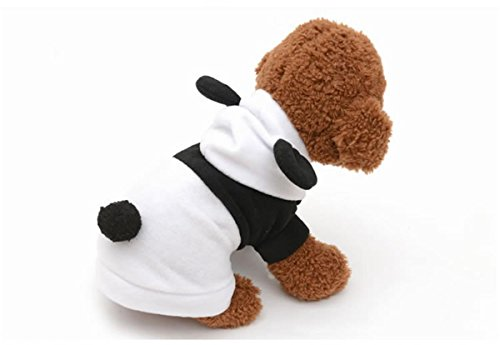 (PetBoBo Cute Pet Panda Costume Clothes,Warm Coat Panda Apparel,Halloween Party Dressing up Party Apparel Clothing for Cat Dog)