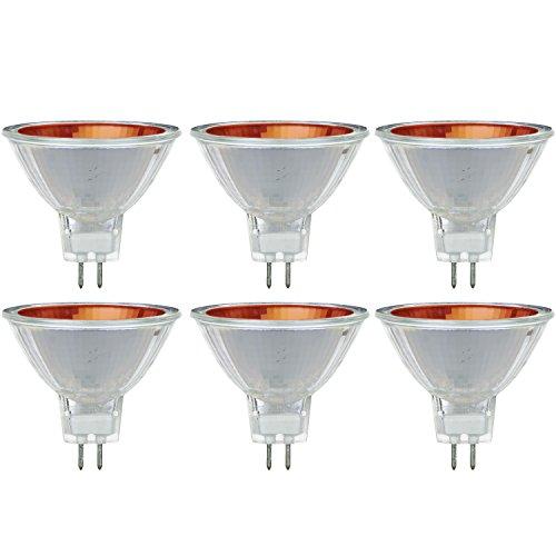 Sunlite 50MR16/NSP/12V/R/6PK Halogen 50W 12V MR16 Narrow Spot Light Bulbs (6 Pack) -