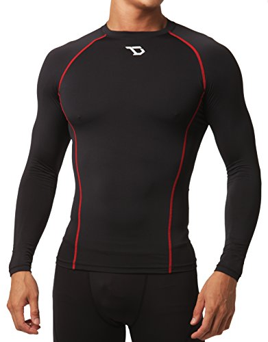 Defender Men's Long Sleeve T-Shirt Cool Dry Compression Soccer BR_M