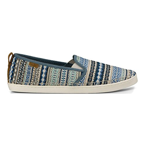 Sanuk Womens Brook Tx Instappers Loafer Lead Grijs Lanai Blanket