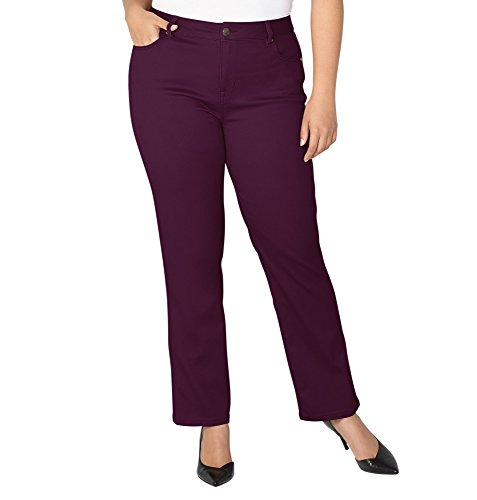 Avenue Denim (Avenue Women's Butter Denim Straight Leg Jean In Winter Bloom, 22 Plum)