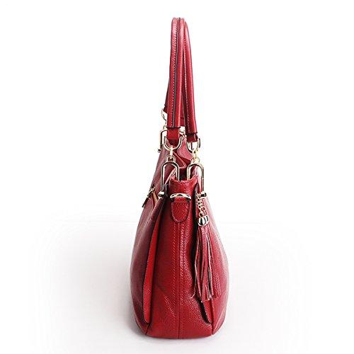 à LF épaule fashion portés bandoulière cuir main Sac Sac en 1818 Sac Bordeaux DISSA femme tpqgwRw