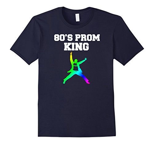 [Men's 80's Prom King Eighties Party Shirt for 80's Theme Party 2XL Navy] (Guy Dance Costumes)