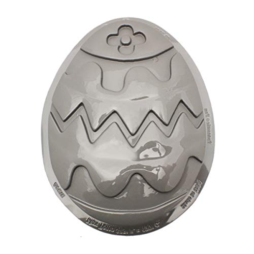CK Products 49-2013 Plastic Decorated Egg Cake Pan, White