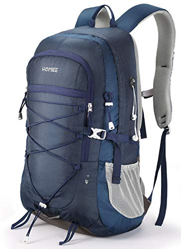 Lightweight Hiking Backpack, 45L Camping Daypack Travel Bag Waterproof