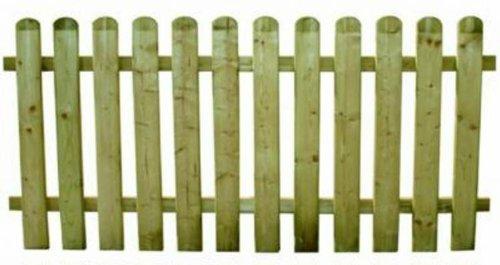 Bordure de jardin, barrière en bois de pin autoclave 180 x 80 cm ...