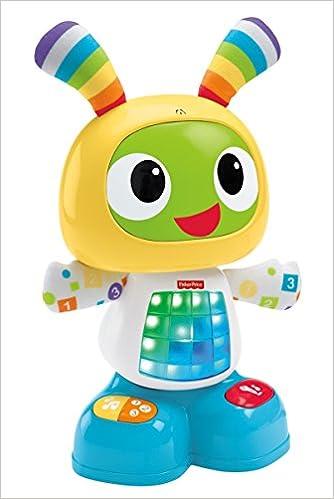 Fisher Price Bebo Le Robot Interactif Jouet D Eveil Avec 3 Modes De Jeu Version Allemande Pour Bebe De 9 Mois Et Plus Cgv45