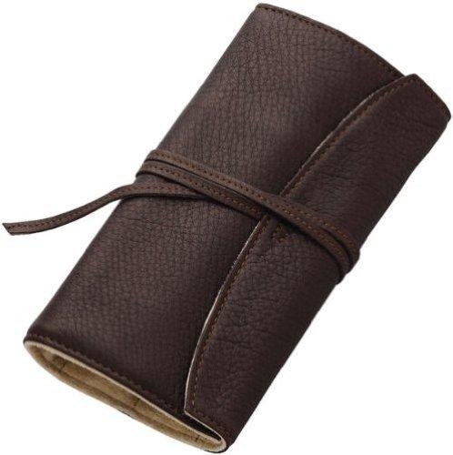 Pilot Pensemble Roll Pen Case 5 Pocket Cowhide Dark Brown