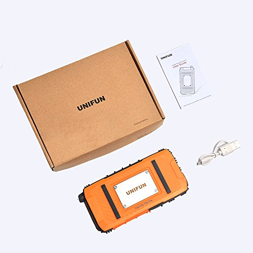 Unifun 10400mAh Waterproof External Battery Power Bank Charger with Strong LED Flashlight and Strap Hole for Tablets, Smartphones and 5V Devices by UNIFUN (Image #7)