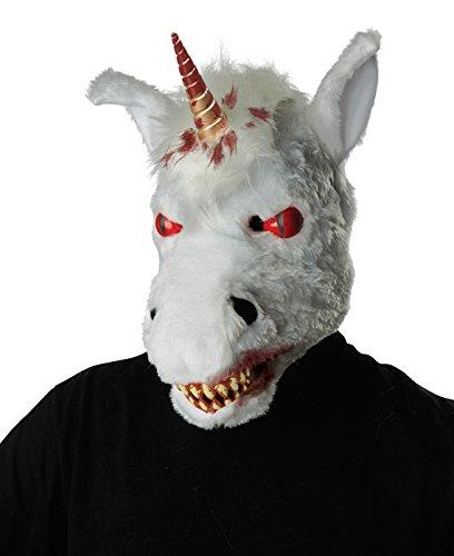 Ani Motion Masks (California Costumes Adult Evil Unicorn Scary Ani-Motion Mask)