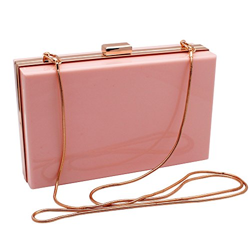 Pink Shoulder Bags Ideal for Handbag Transparent Acrylic Ladies Gift Women Fashionable Luxury Clutches Evening HQdeal q6TY0x