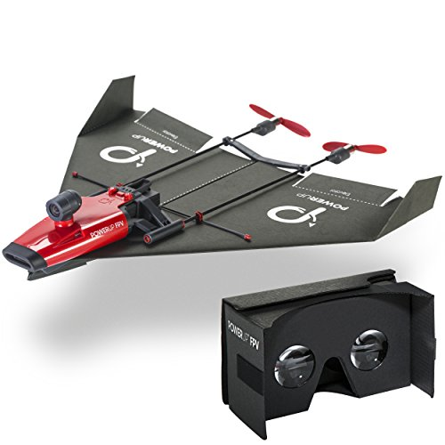 PowerUp FPV Paper Airplane VR Drone Model Kit, Red