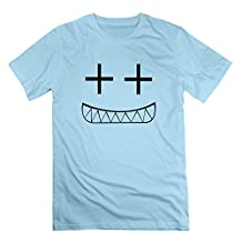 L572 Smile Tee For Mens SkyBlue